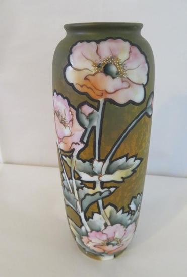 """Nippon Craftsmen Poppy Vase, 8 3/4"""""""