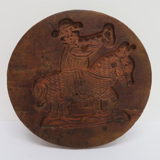"Wooden Cheese mold, 13 1/2"" diameter"