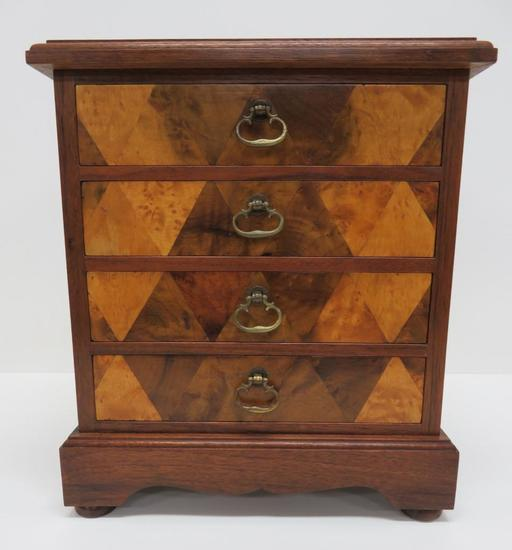 Four Drawer Jewelry Chest, Inlay wood front