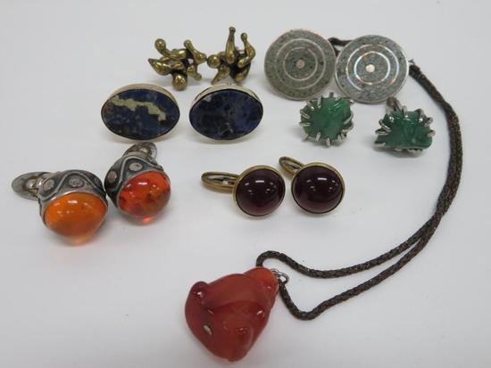 Vintage cuff links and Buddha pendant