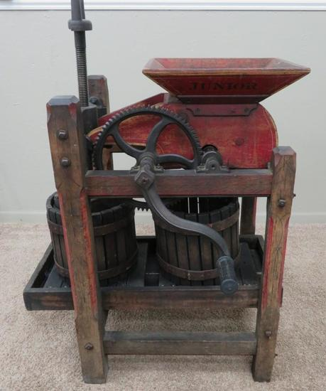 Cider Press For Sale >> Great Cider Press Hocking Valley Junior With Stenciling Art