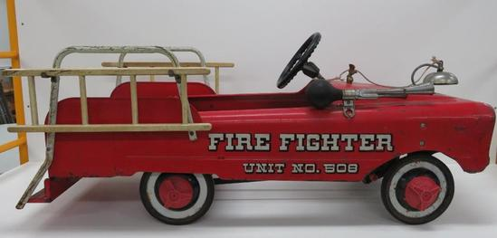 Vintage AMF Fire Fighter Unit No 508 Pedal Car