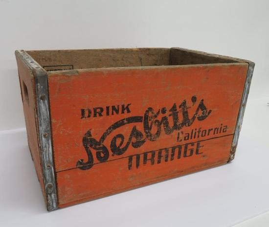 Wooden Nesbitt's Orange soda box, Madison Wisc