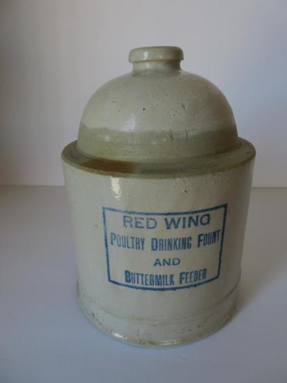 Red Wing Poultry Feeder Buttermilk Feeder top