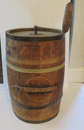 """Wooden butter churn, 19"""""""