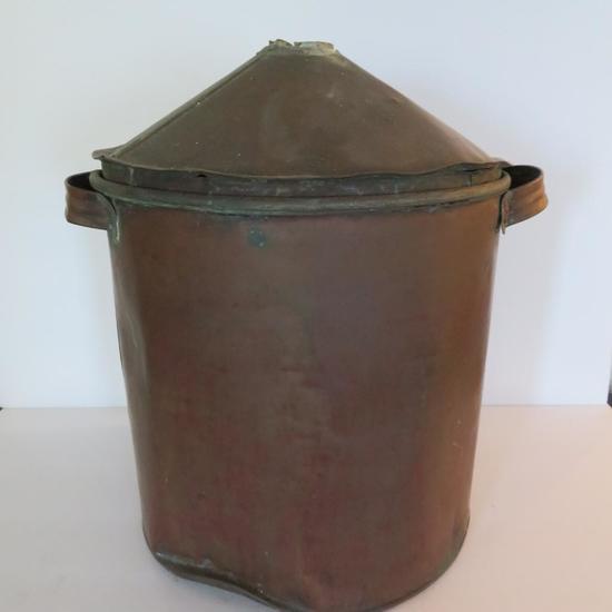 """15"""" tall Copper boiler, cone top"""