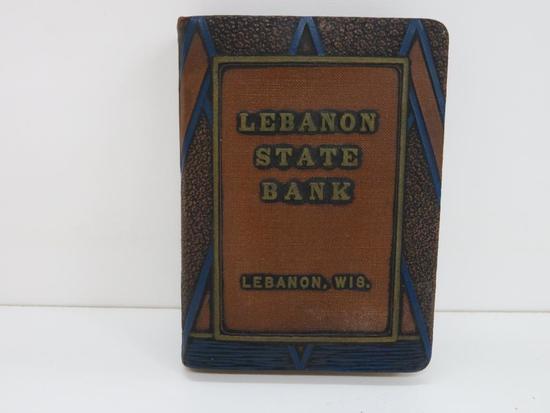 Lebanon State Bank, Lebanon, WIS Book Bank, Aviation Design