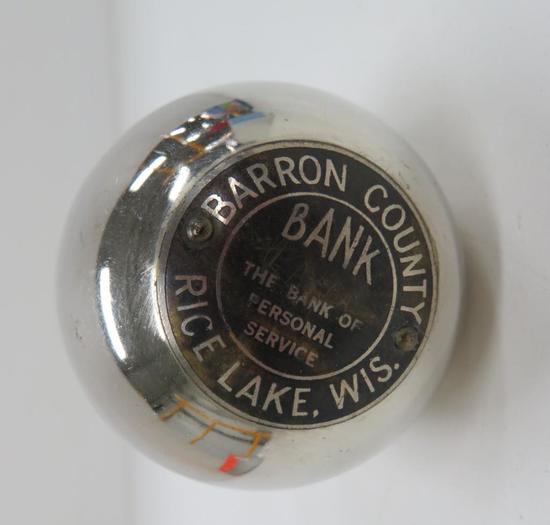 Barron County Rice Lake, Wis Egg Shaped Bank