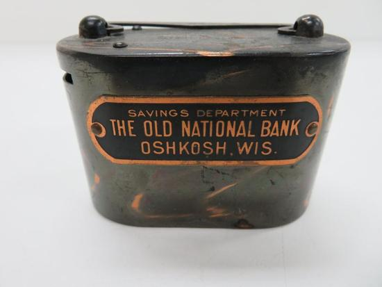 The Old National Bank Savings Department, Oshkosh, Wis. Oval Bank