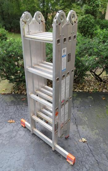 16' Krause MultiMatic folding ladder, multi position