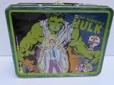 Marvel Incredible Hulk metal lunch box, no handle, 7 1/2