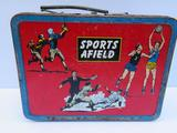 Ohio Art Sports Afield metal lunch box, c 1960