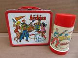 Aladdin The Archies metal lunch box and thermos, c 1969