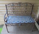 3' Metal outdoor bench