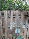 Outdoor Garden Shepard hook and copper wind chime