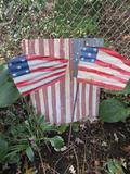 Galvanized metal flag art