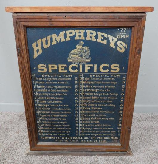 Humprey's Specifics Apothecary cabinet