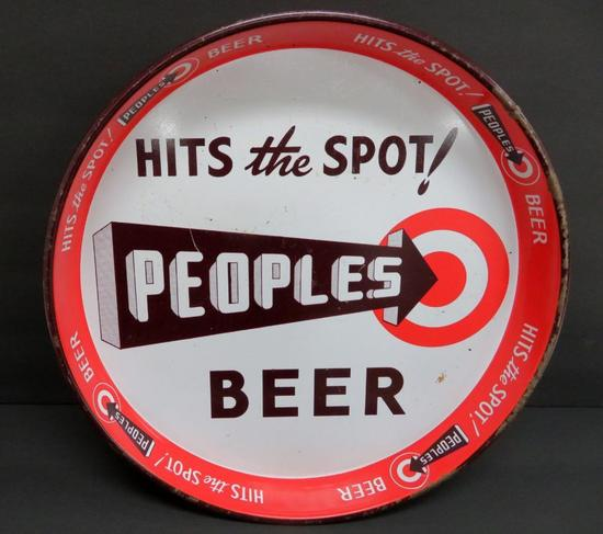 """Peoples Beer Tray, Hits the Spot, 11 1/2"""""""