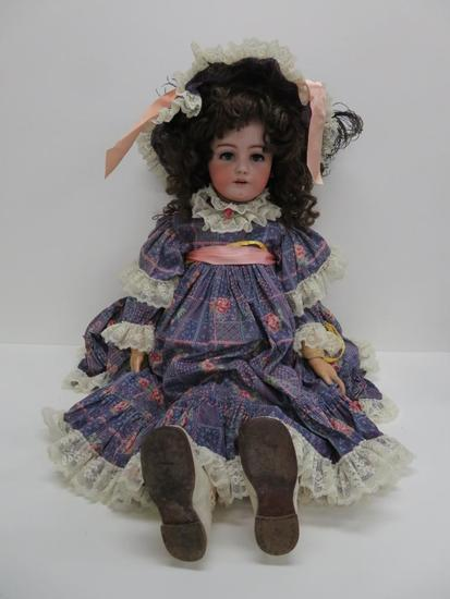 """Very large 38"""" Simon and Halbig bisque head Doll, mold 1078"""