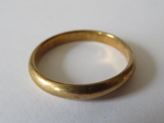 14 kt gold band