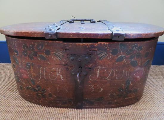 1833 stenciled immigrants trunk