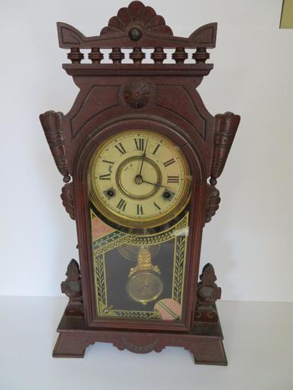 New Haven 8 day Neva clock, pat 1881