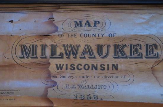 1858 HF Walling Map of Milwaukee County