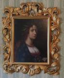 Ornate Portrait oil of female
