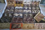 30 stereoview cards, life and romance