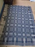 Lovely Blue and White antique woven coverlet
