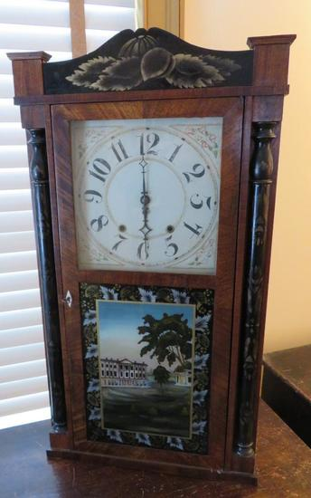 Ornate case clock, Riley Whiting, Winchester Conn