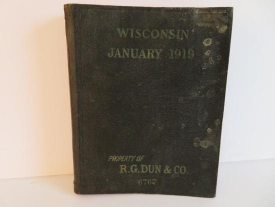 Wisconsin January 1919 Mercantile Agency Reference Book