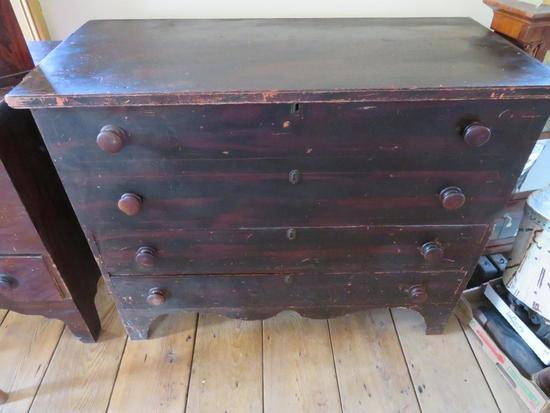Blanket Box, lift top with two drawers
