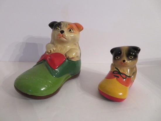 Two Adorable c 1940's Cat in shoe pencil sharpeners