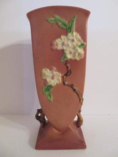 Roseville Apple Blossom Vase, 1948, 39-12, pink