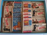 18 Kleenex advertising tissues, Baby Ruth, Tastee Soys, Curtis Corn Muffins