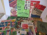 Twelve vintage catalogs, toys, holiday, rugs and decoration