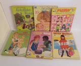 Six Vintage doll coloring books