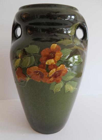 """Roseville Rozane large two handle vase, 13"""""""