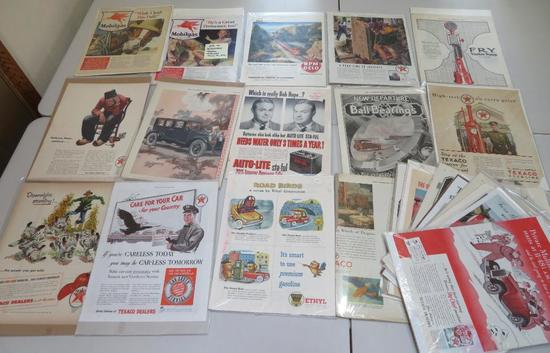 25 pieces of automobile and gasoline advertising