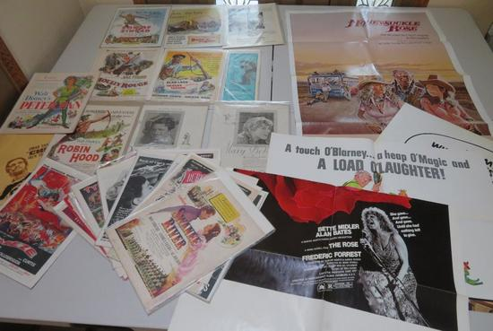 Movie Posters, lobby cards and advertising