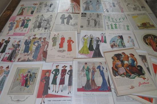 Over 45 pieces Fashion Advertising lot