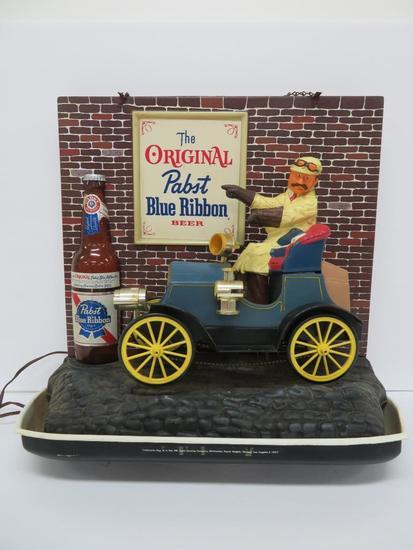 Pabst Blue Ribbon Jalopy light up motion sign