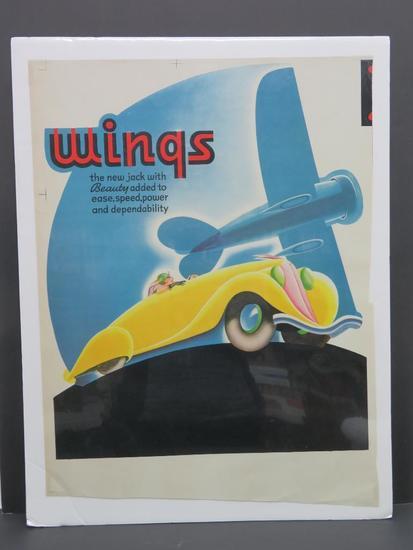 """Wings Advertising 22 1/4"""" x 17"""""""