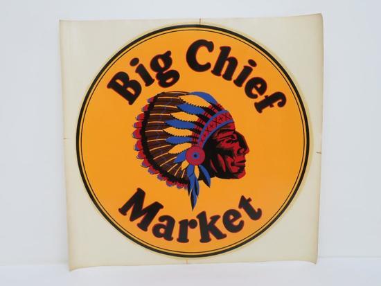 "Big Chief Market original decal, 16"" round"