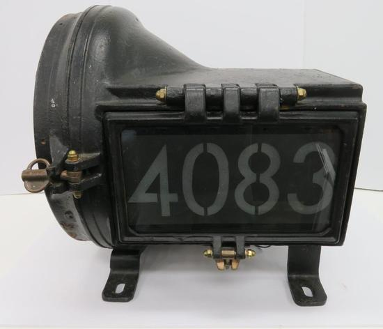 Pyle National Company Steam Engine Head Light, 1880-1940