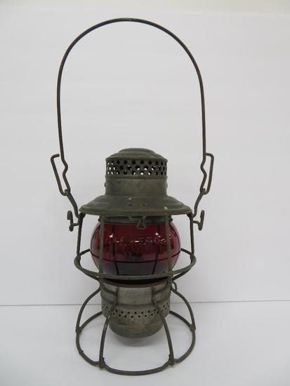 "Red Globe Adlake Kero Railroad Lantern, S P Co and UP, 10"""