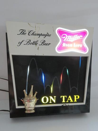 1960 Miller Champagne of Beer sign, F 1010