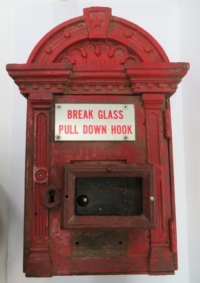 1888 Cast Iron Fire Call Box, with internals