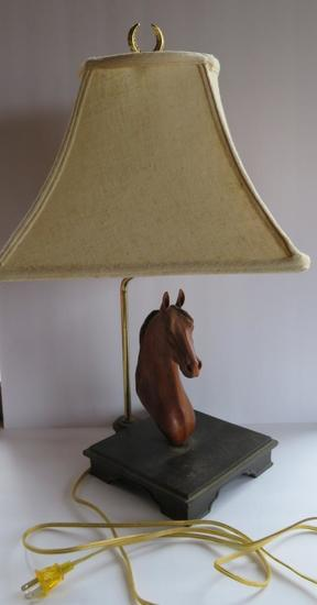 "Horse lamp, 20"", works"